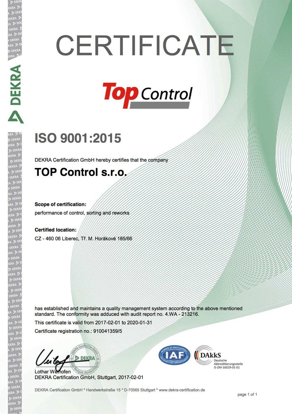 ISO 9001_2015 EN_TOP Control